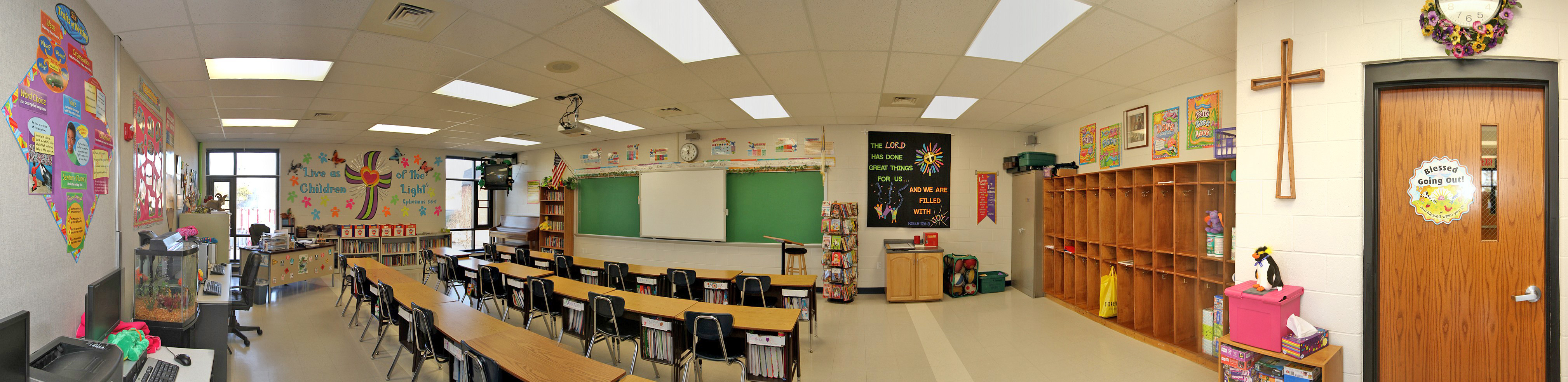Modern Middle School Classroom ~ Virtual tour good shepherd lutheran schoolgood